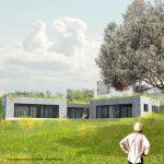 Perspective 1 maison en pierre projet Maison dans la colline