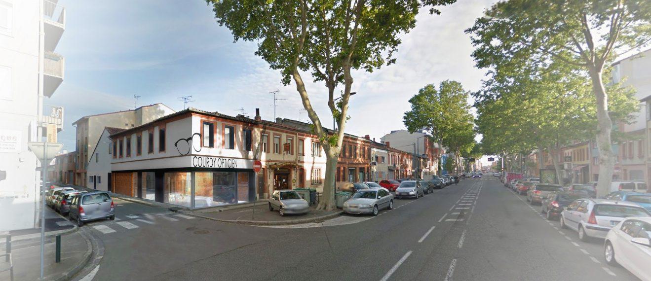 Perspective rue Boutique d'optique Courdy