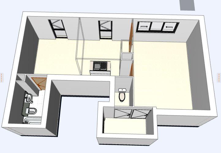 3D avant rénovation appartement j
