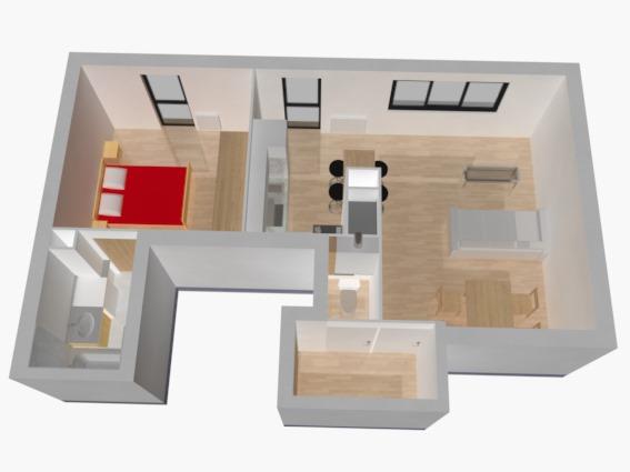 3D après rénovation appartement j