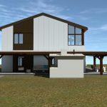 Vue projet côté jardin Nord-Ouest rénovation extérieure maison R