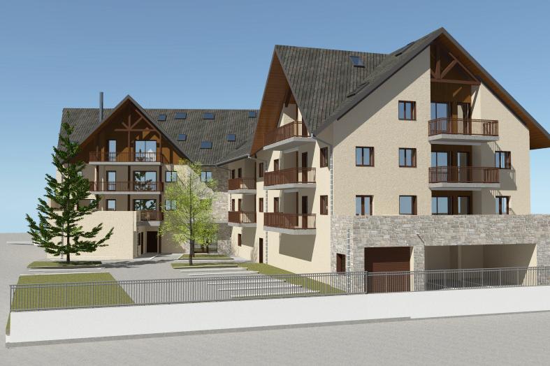 résidence Les Terrasses Fleuries Saint Lary Soulan Armonie architecture vue intérieure 1