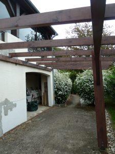 vue sous la terrasse avant projet maison R